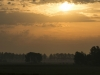 Zon opkomst nabij Nieuwegein (Utrecht)